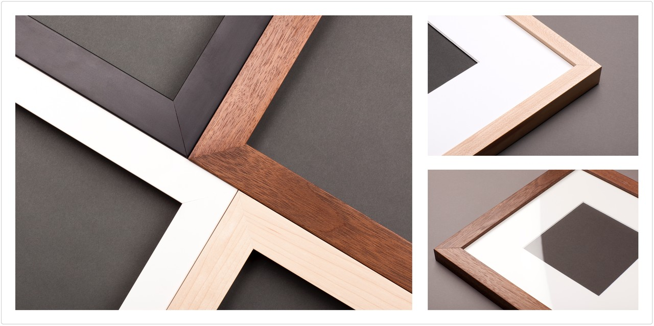 All wood profiles and high quality materials for online custom framing