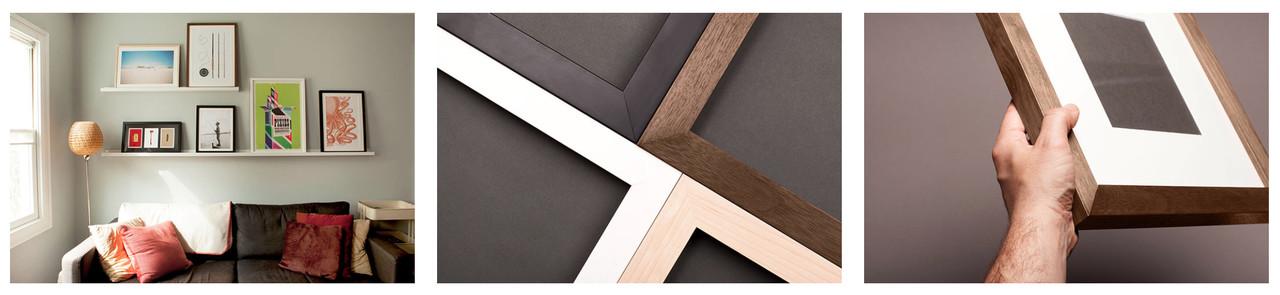 Museum-quality custom frame materials
