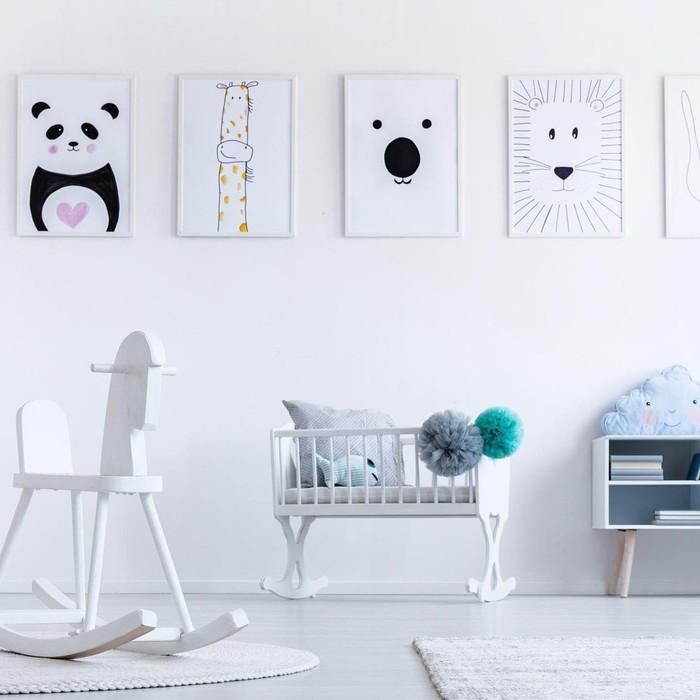 Nursery artwork frames