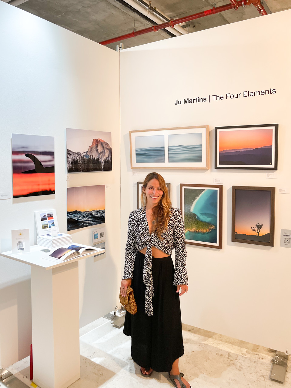 Ju Martins custom framed photos at the Clio Art Fair 2021